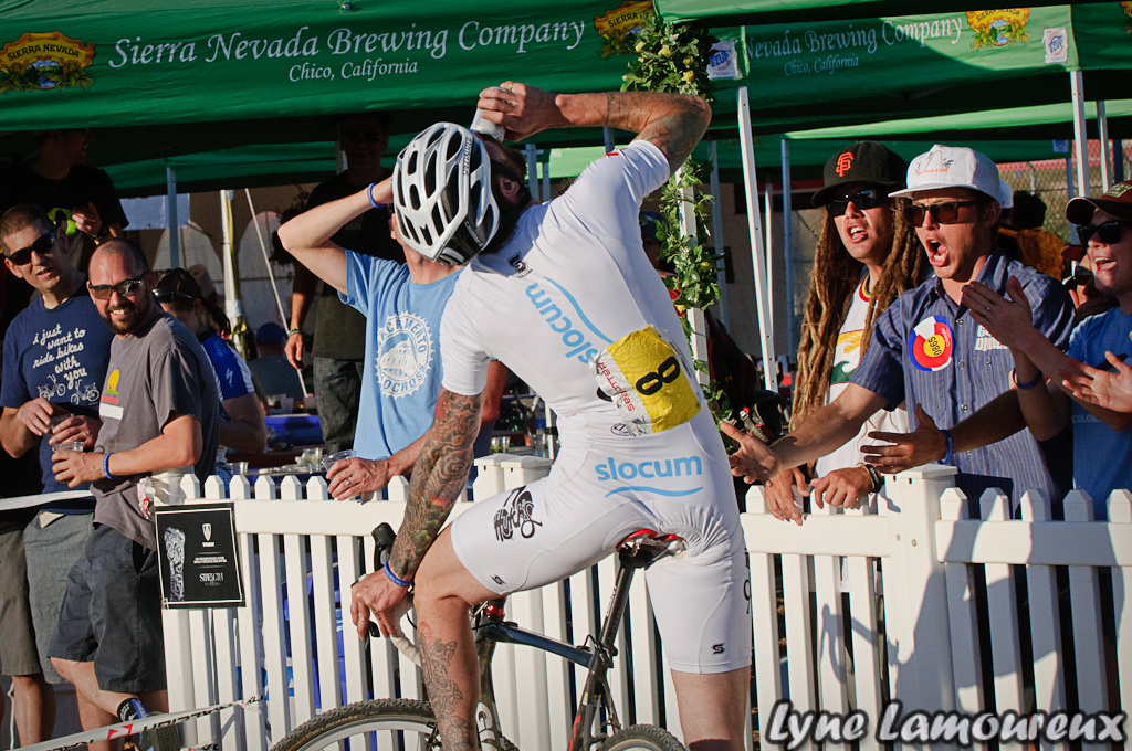 2012 Sea Otter Classic Cyclocross Beer hand-up