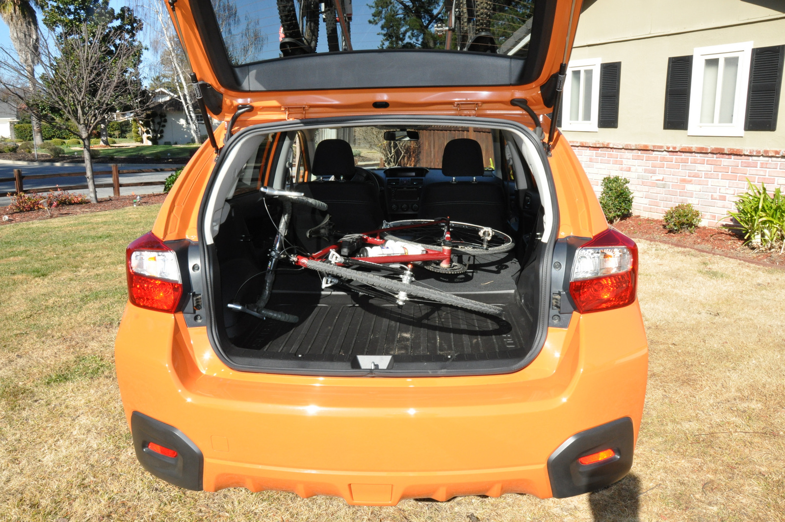 Subaru XV Crosstrek bike inside