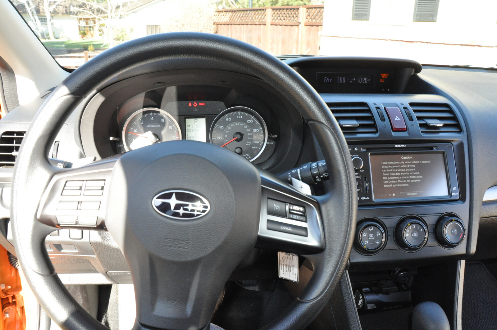Subaru XV Crosstrek steering wheel