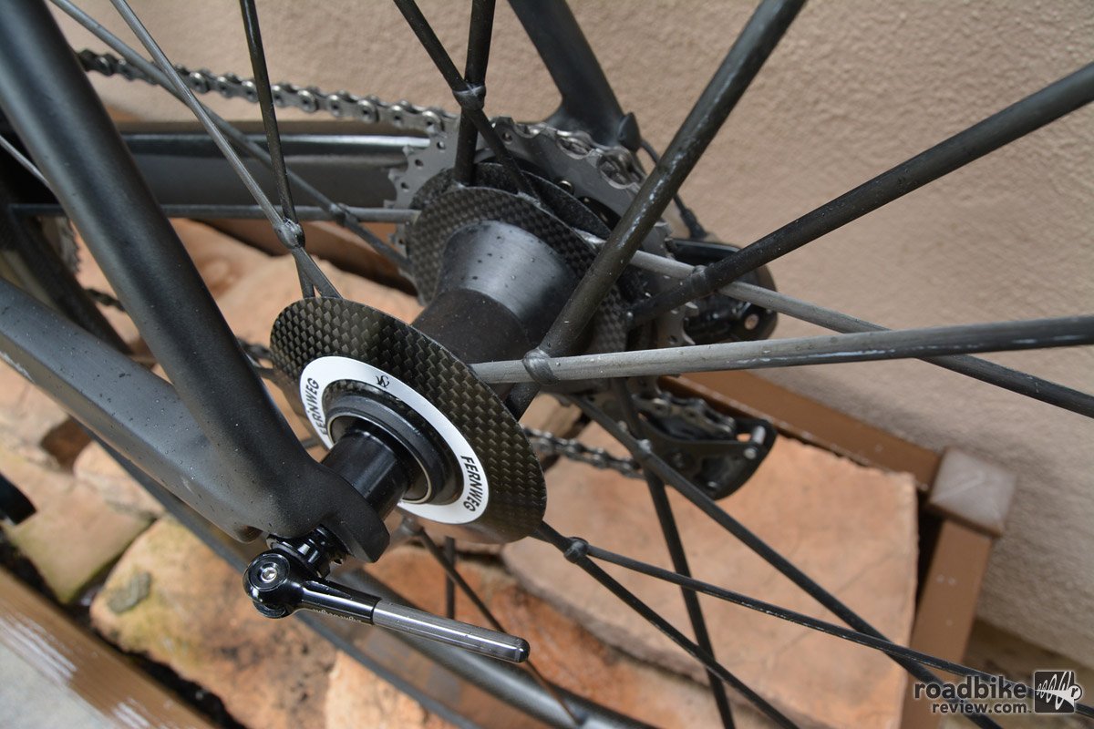 Aero spokes and super lightweight hubs add up to a $8000 wheelset.
