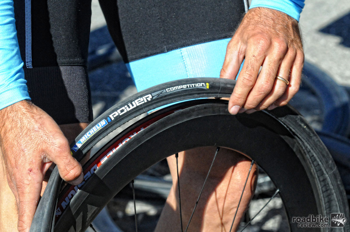 New offerings will be clincher only, which is what the UCI Continental Elevate Cycling Team will be racing on. Photo courtesy Michelin/Brian Hodes