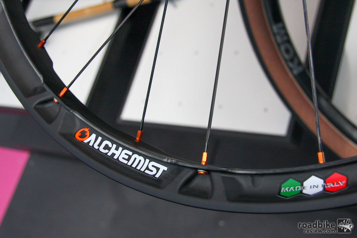 The Alchemist X-Sense carbon wheels combine innovation and a cool aesthetic.