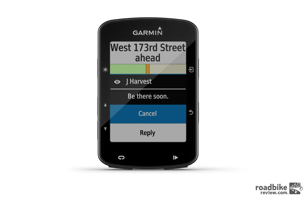 Edge 520 Plus Messaging