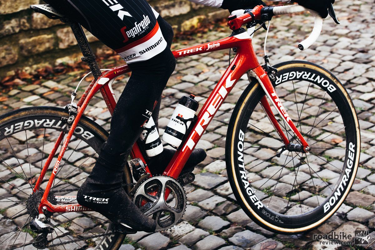 Natural habitat of Trek's latest bump tamer: the cobbles of northern Europe.