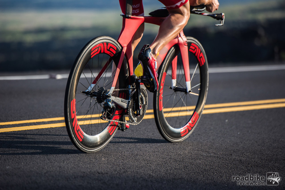 These new wheels will be ridden by roughly a dozen pro riders at the Ironman World Championships in Hawaii this weekend.
