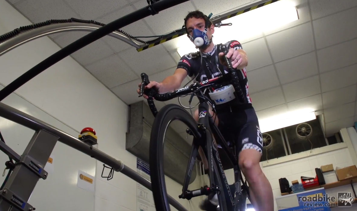 In the pain cave in the name of science.