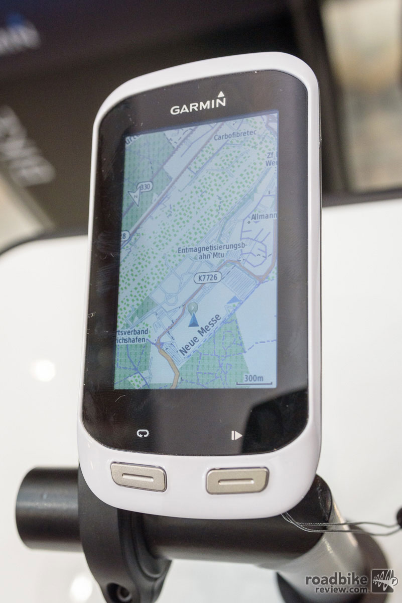 The new Edge Explore 1000 GPS unit clearly shows Eurobike's location.
