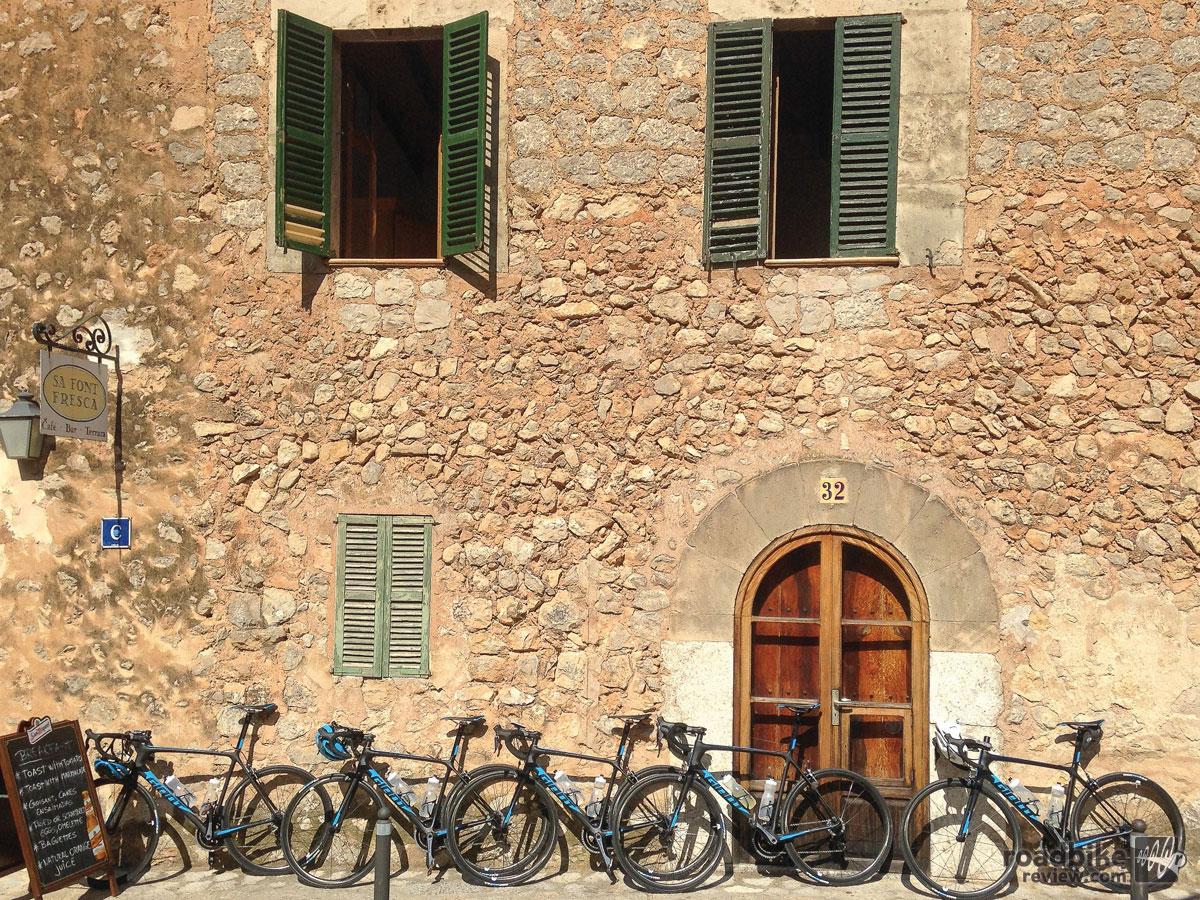 Bike parking in Mallorca.