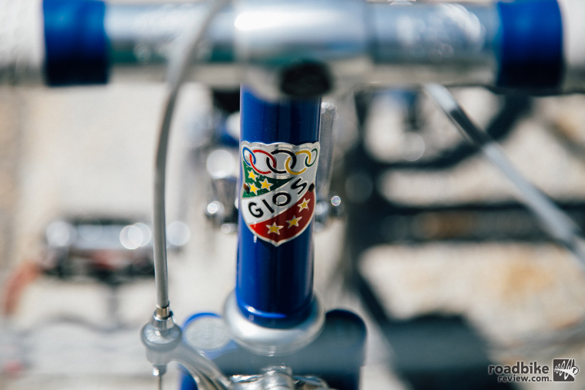 The Gios headtube badge is a classic.
