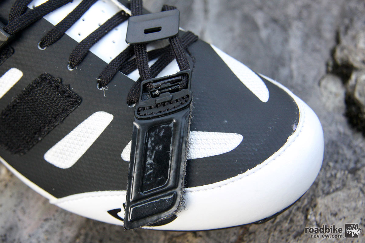 Pop open the Techlace cover and you can pull out the laces for replacement.