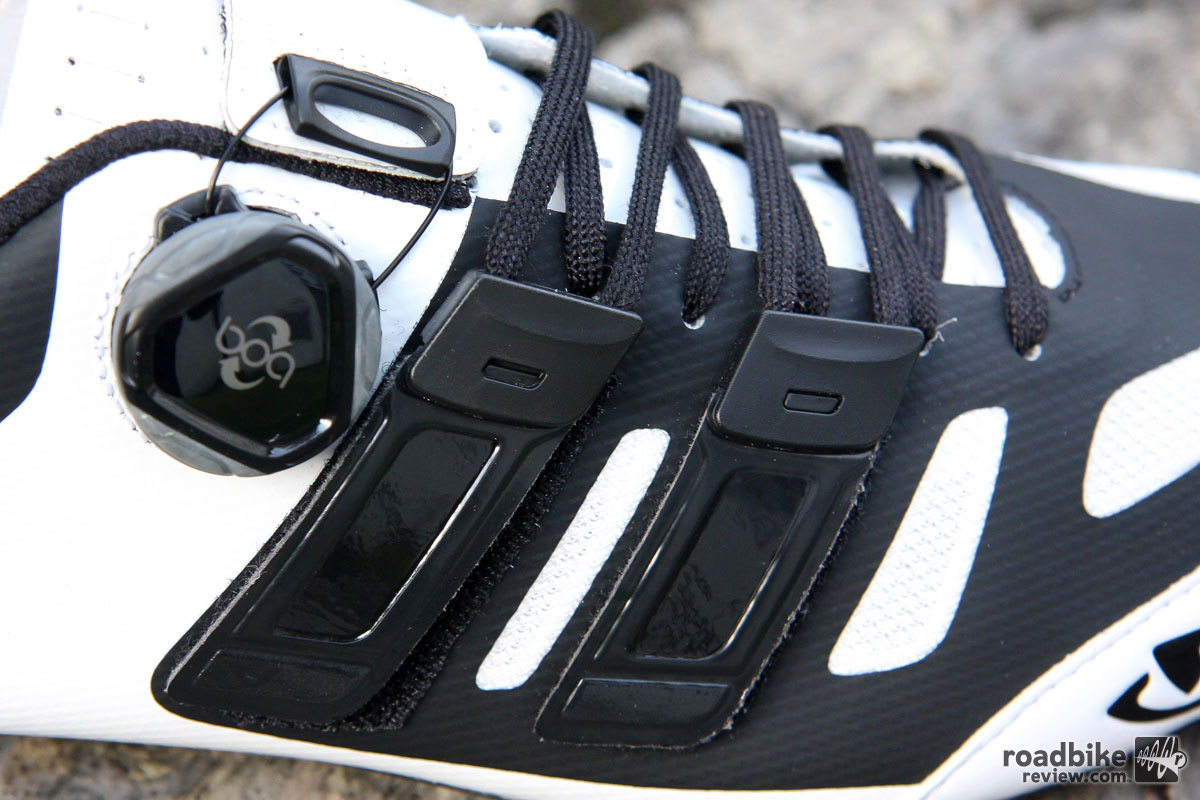 The patent-pending Techlace system allows the user to change out the laces be it to replace broken ones or change color and/or length.