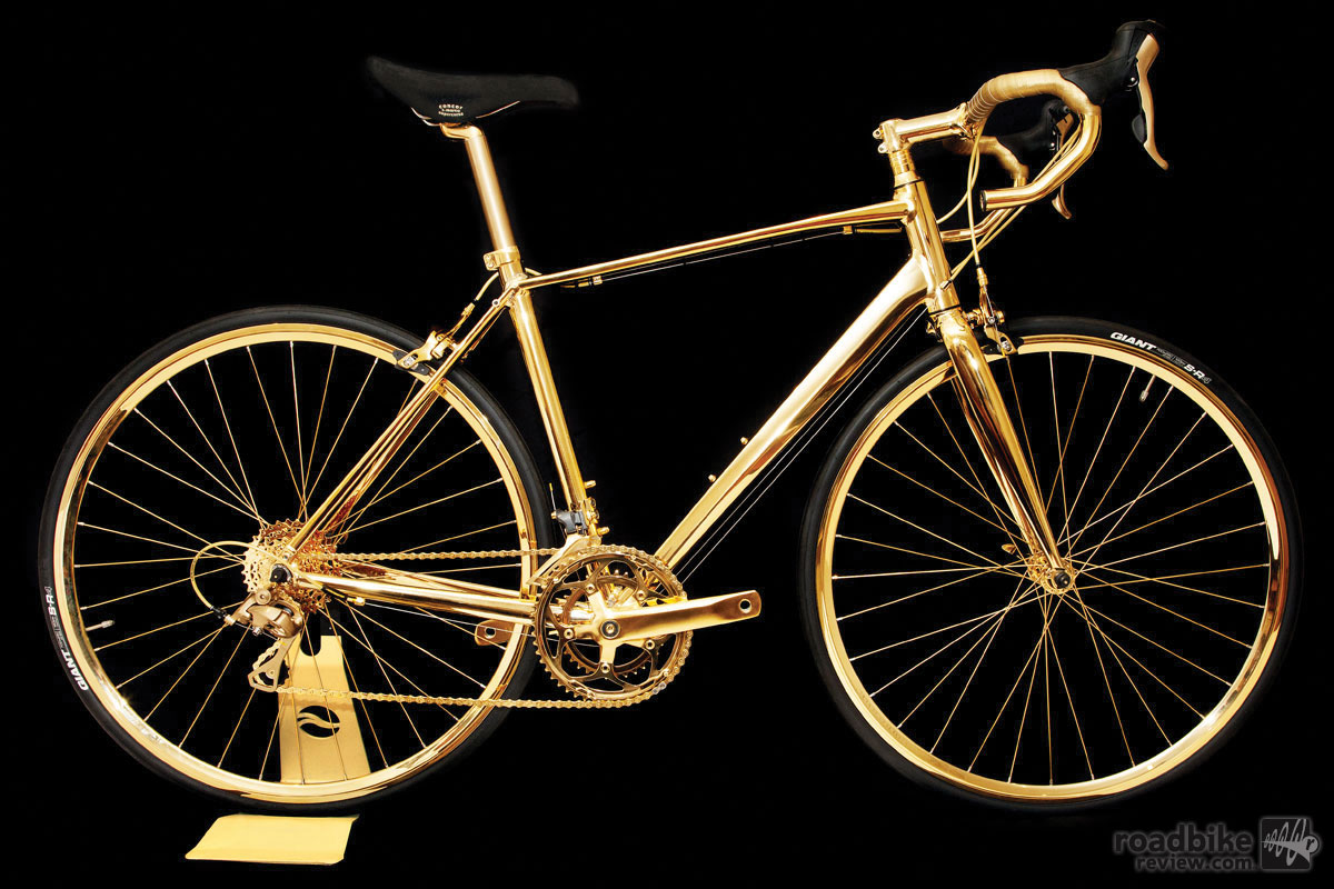 Spotted: $400,000 24K gold plated road bike