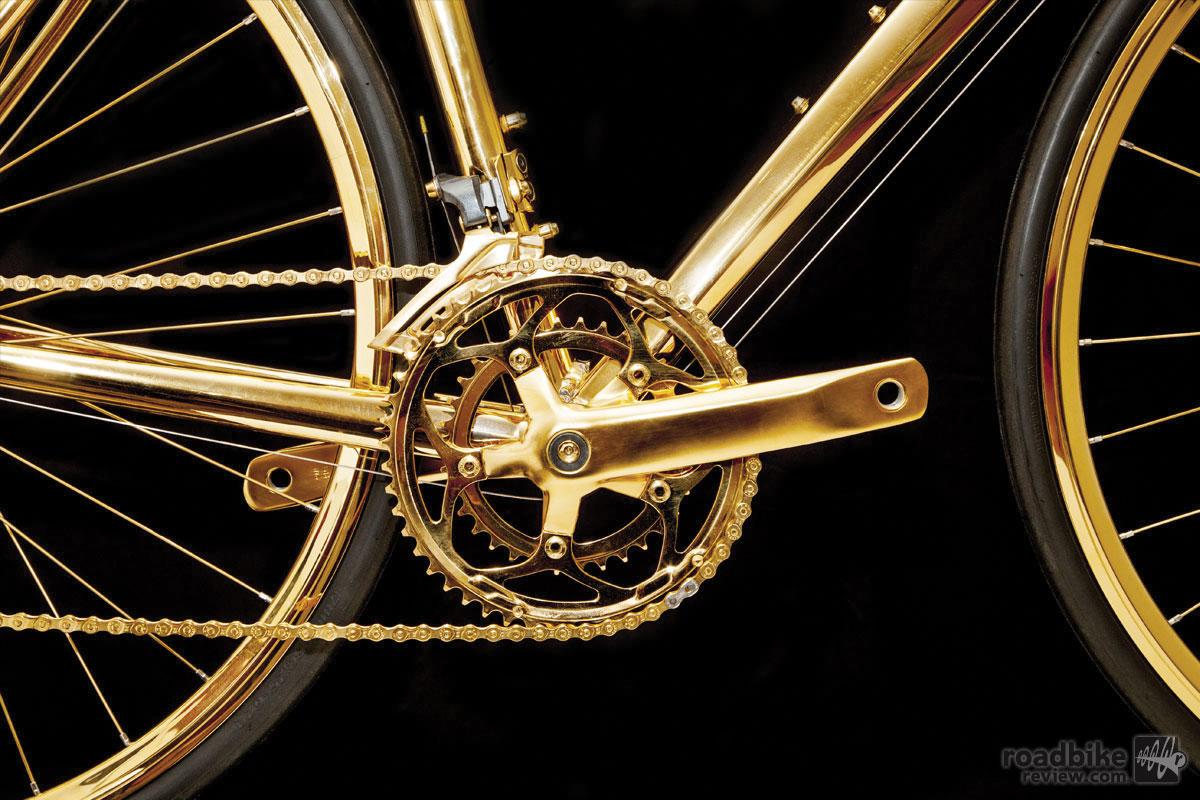24K Gold Plated Road Bike
