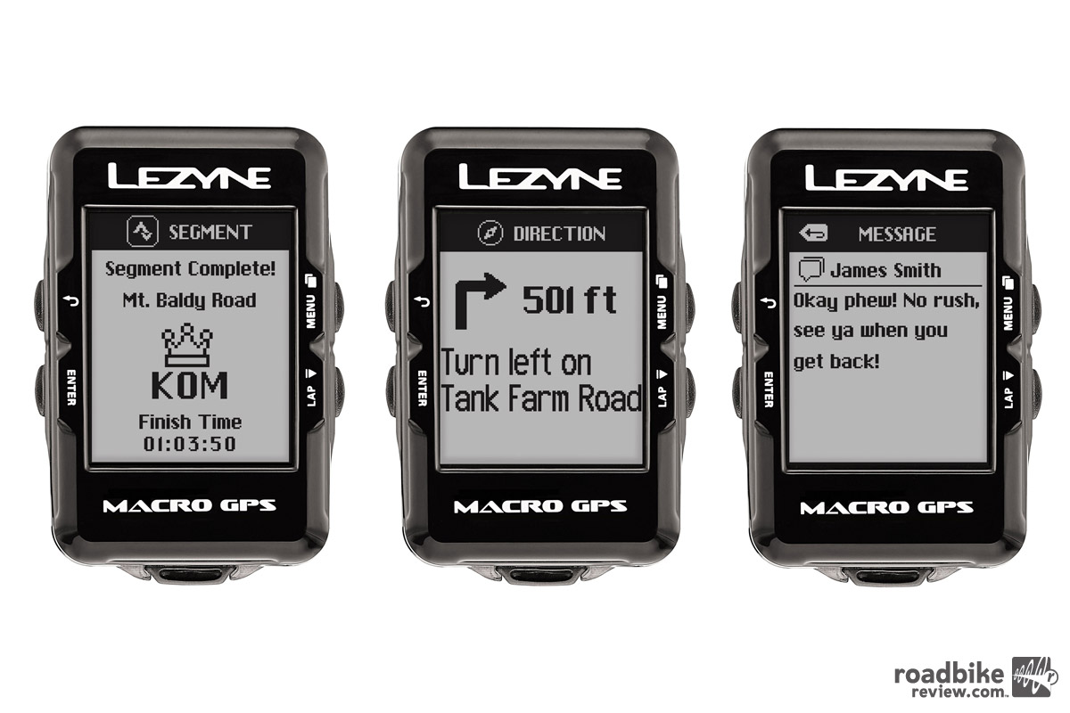 Once paired with your smartphone, every GPS in Lezyne's line up is capable of displaying Strava live segments, turn by turn directions and smartphone notifications.