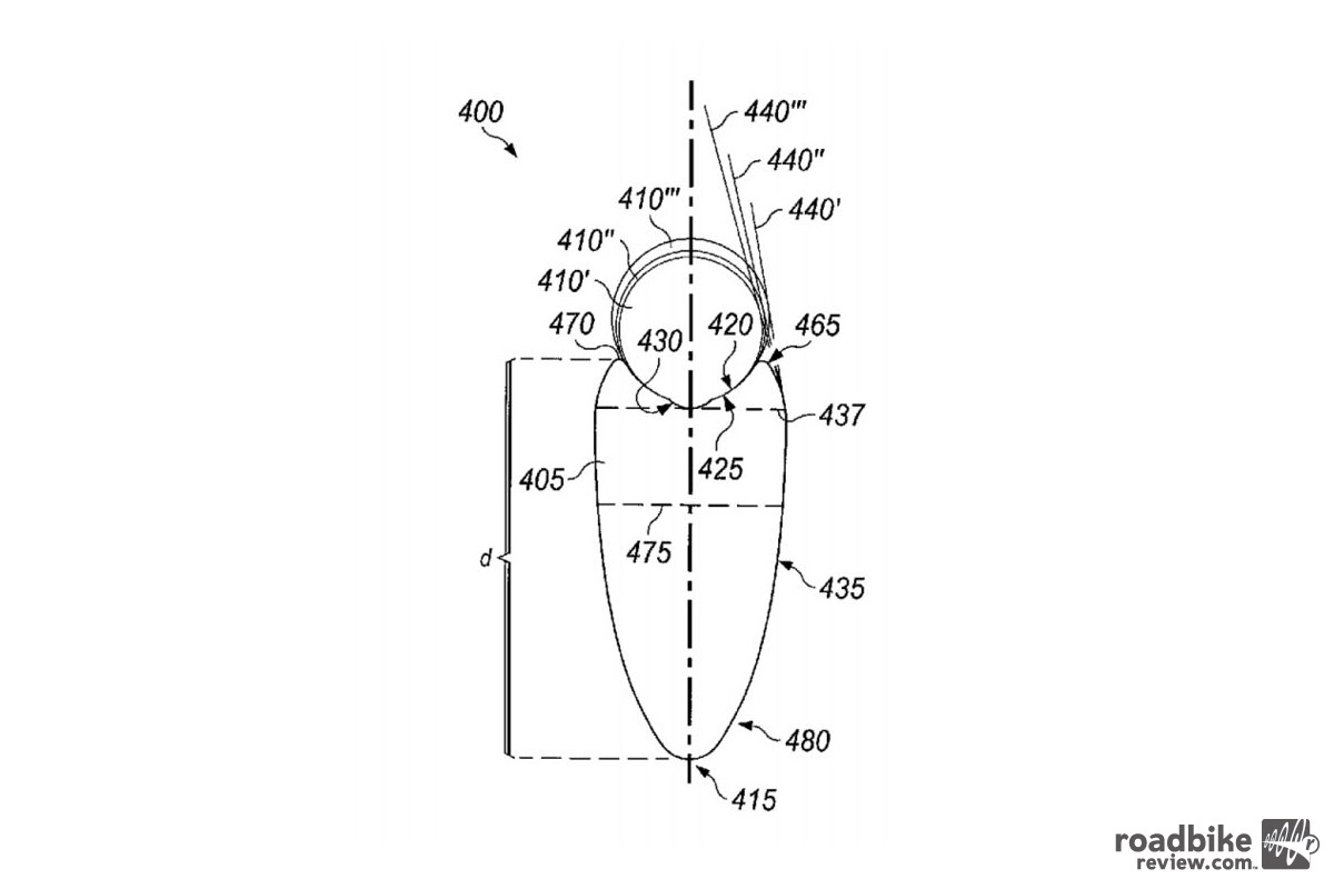 HED's patent describes how rim width in relation to tire width can create a tangential angle.