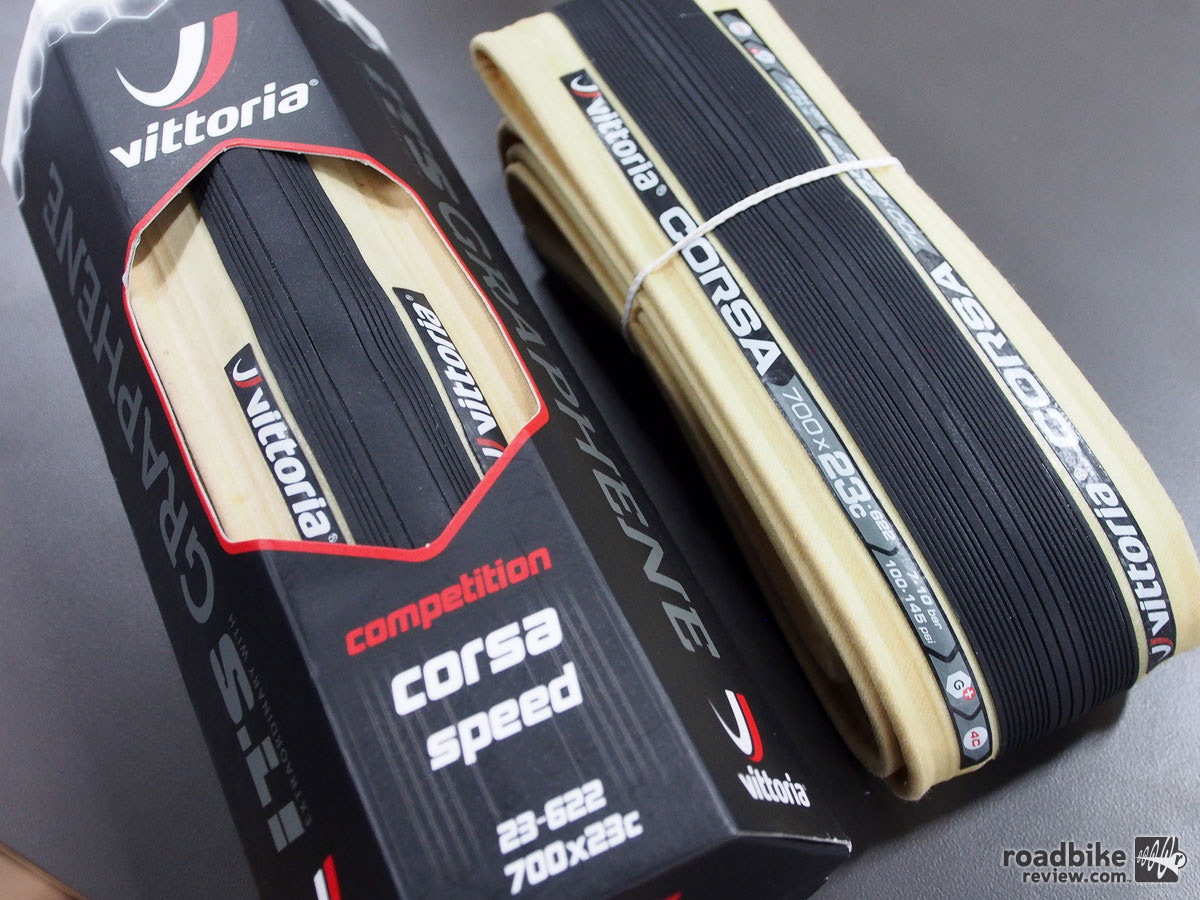 The Graphene material in the new Vittoria Corsa Speed tires is claimed to make them faster, grip better, more puncture resistant, and last longer.