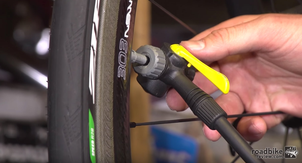 Properly affixing your pump head to your valve stem is key to success.