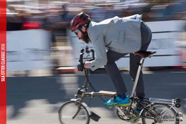 The top men's rider of the Brompton World Championship USA was Peter Yaskauskas from New York who wins flight and entry to the Brompton World Championship Final in London this summer.