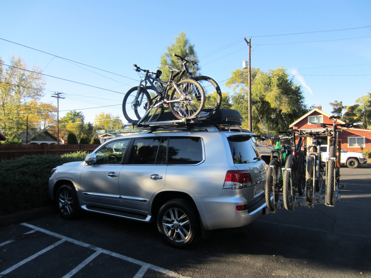 1up USA Bike Rack In Addition To Thule Roof Rack