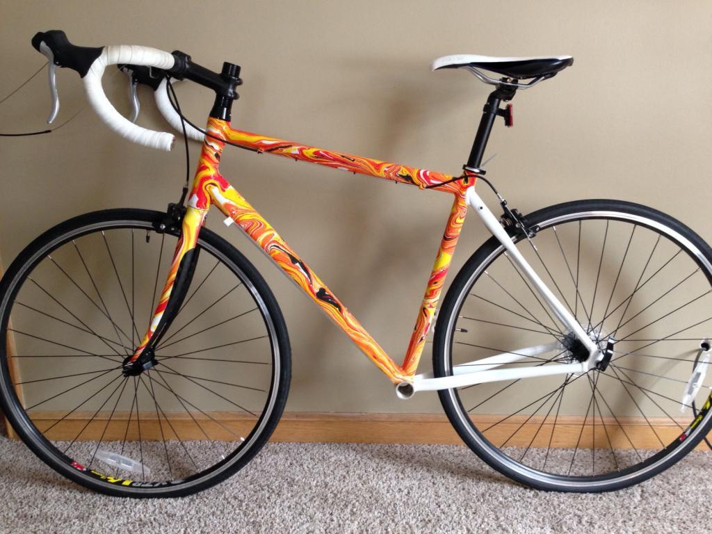 Custom paint swirl for Custom bicycle painting