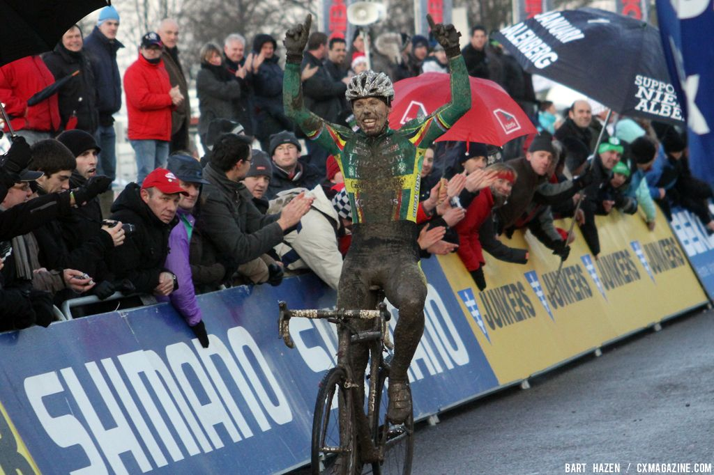 Sven Nys Takes a Muddy Win