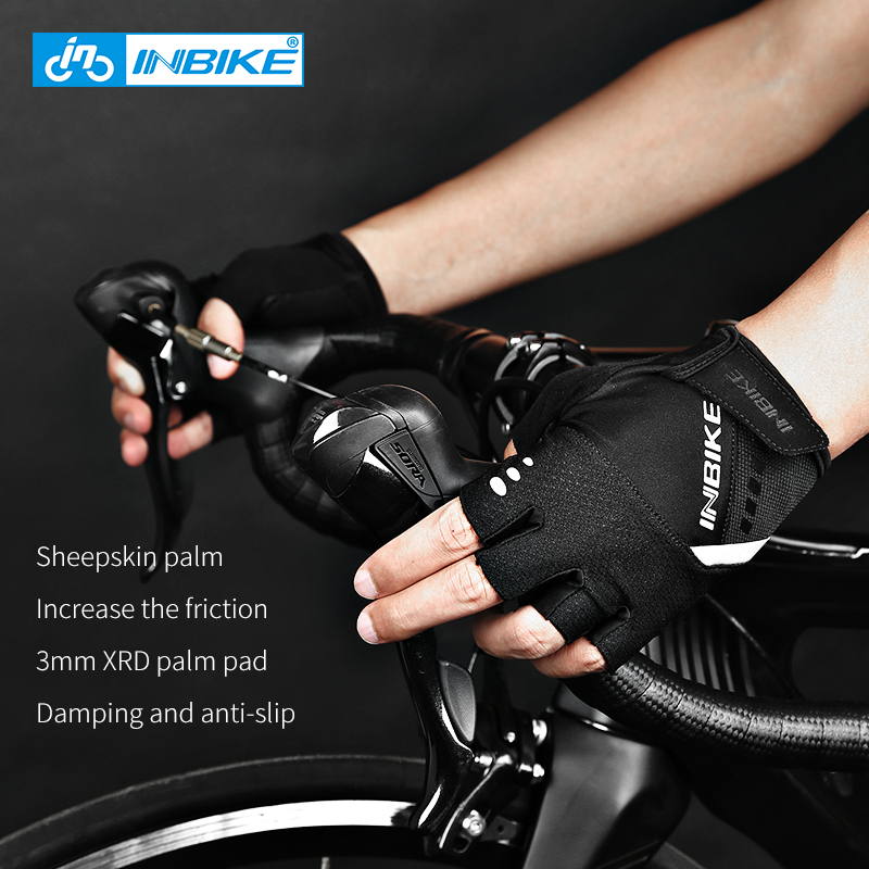 Gloves mitts for Time Trial -inbike-sheepskin-non-slip- f361a3fcf