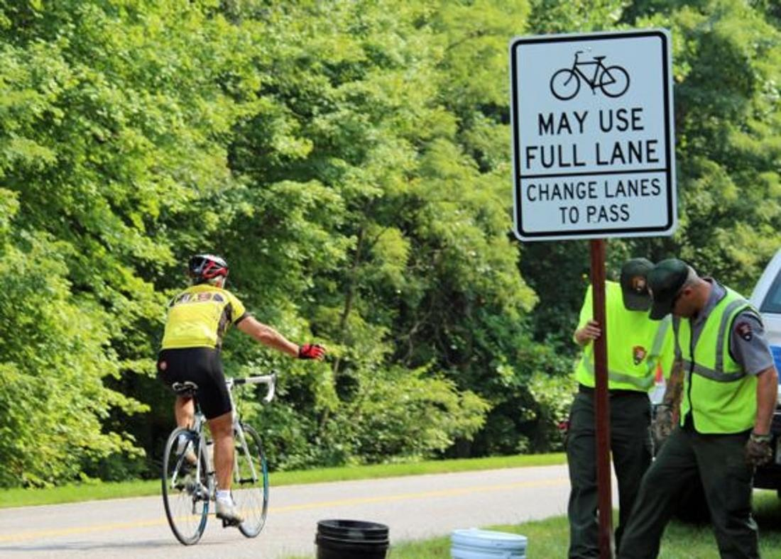 Another cyclist deliberately hit today-installing-cyclist-may-use-full-lane-sign-_-ntpa.jpg