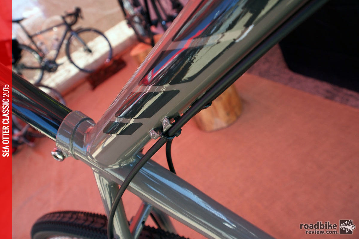 Cable routing on the steel bikes is kept external for ease of maintenance.