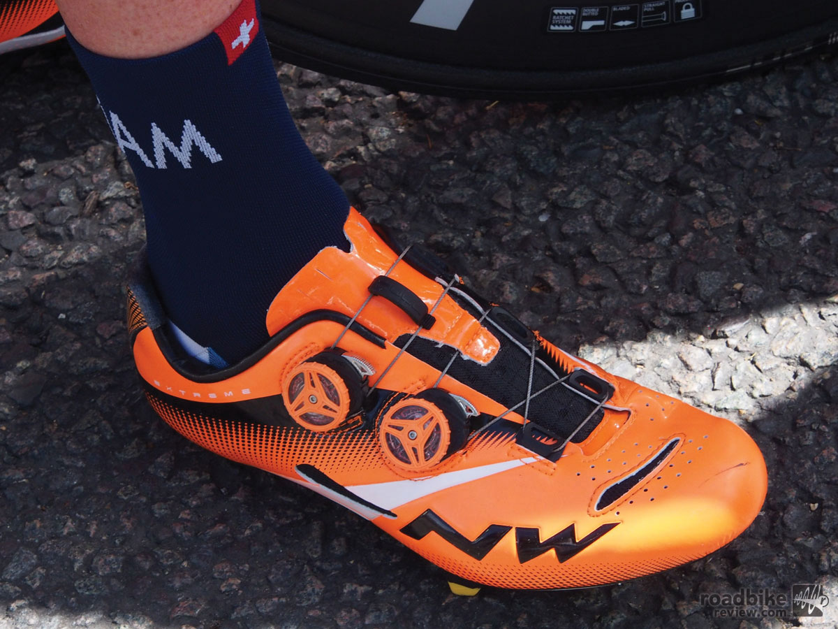 Shoes of the Tour de France Peloton