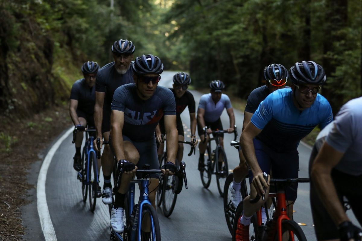 Riding some of the climbs featured in the Tour of California was a great way to show the cooling effects of the new Aether MIPS helmet.