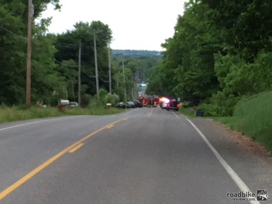 This two-lane road near Kalamazoo, Michigan, was the scene of a tragic accident.