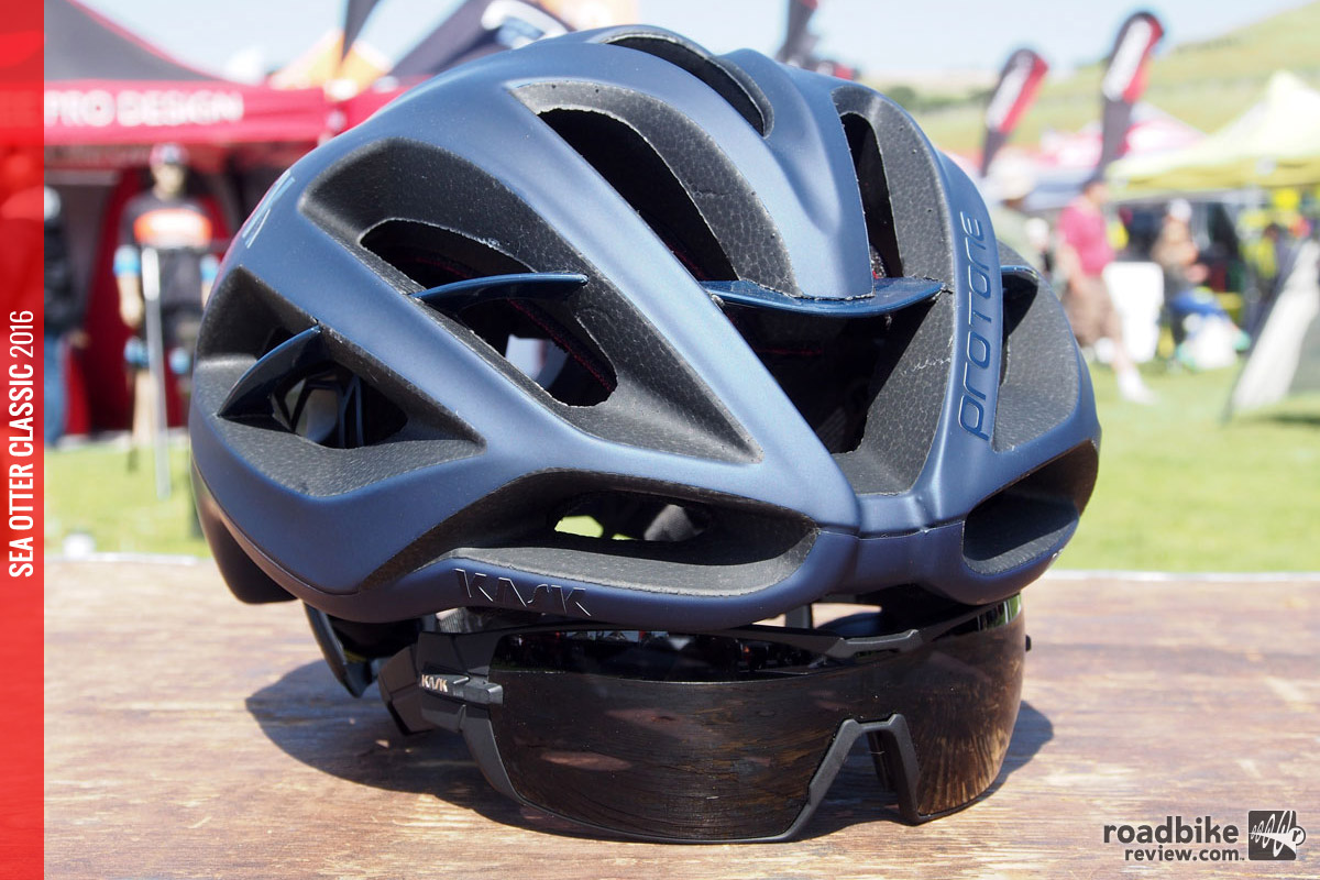 These new sunglasses are designed to play nice with the Protone road helmet.
