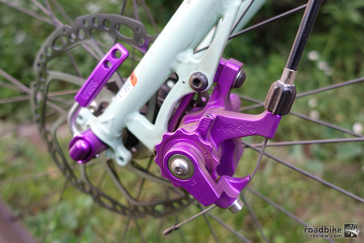 The Klamper is Price's latest product. With three years in development, the brake has excellent action and modulation. A limited run of purple anodized Klampers will be available this summer.