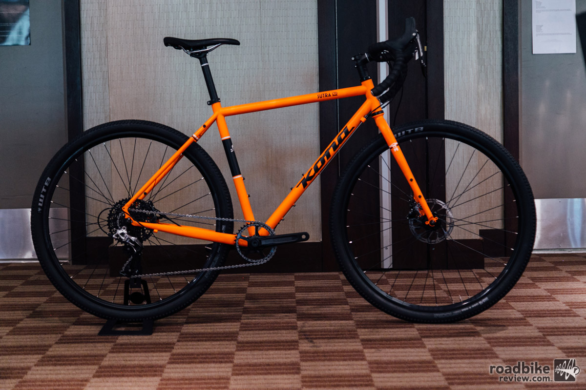 The Kona Sutra has a progressive geometry that's suited for touring, but more than capable of shredding trail. It's an office favorite that comes in two very different builds.