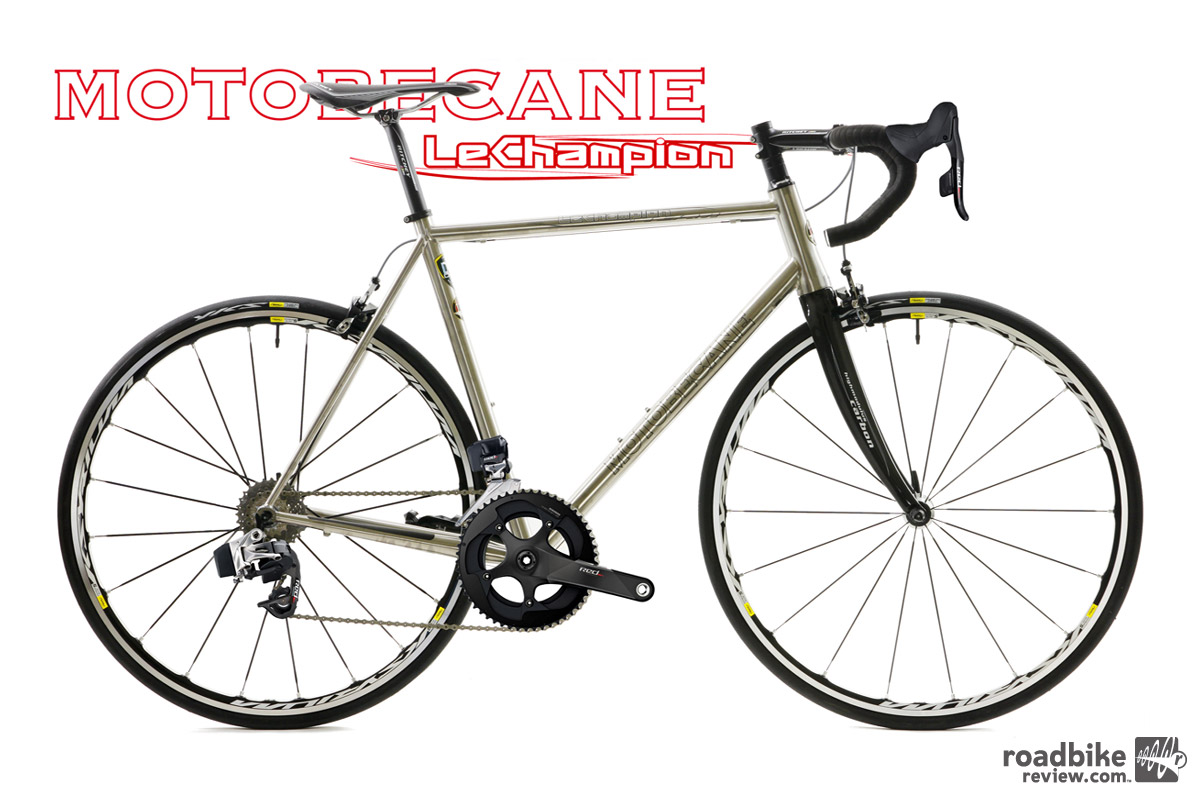 Thumbnail Credit (roadbikereview.com): The Le Champion Titanium Inferno has a titanium frame and is kitted with a full SRAM Red eTap wireless drivetrain and will be available for $3199