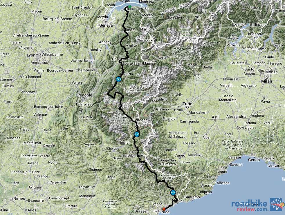 Les Alpes Route