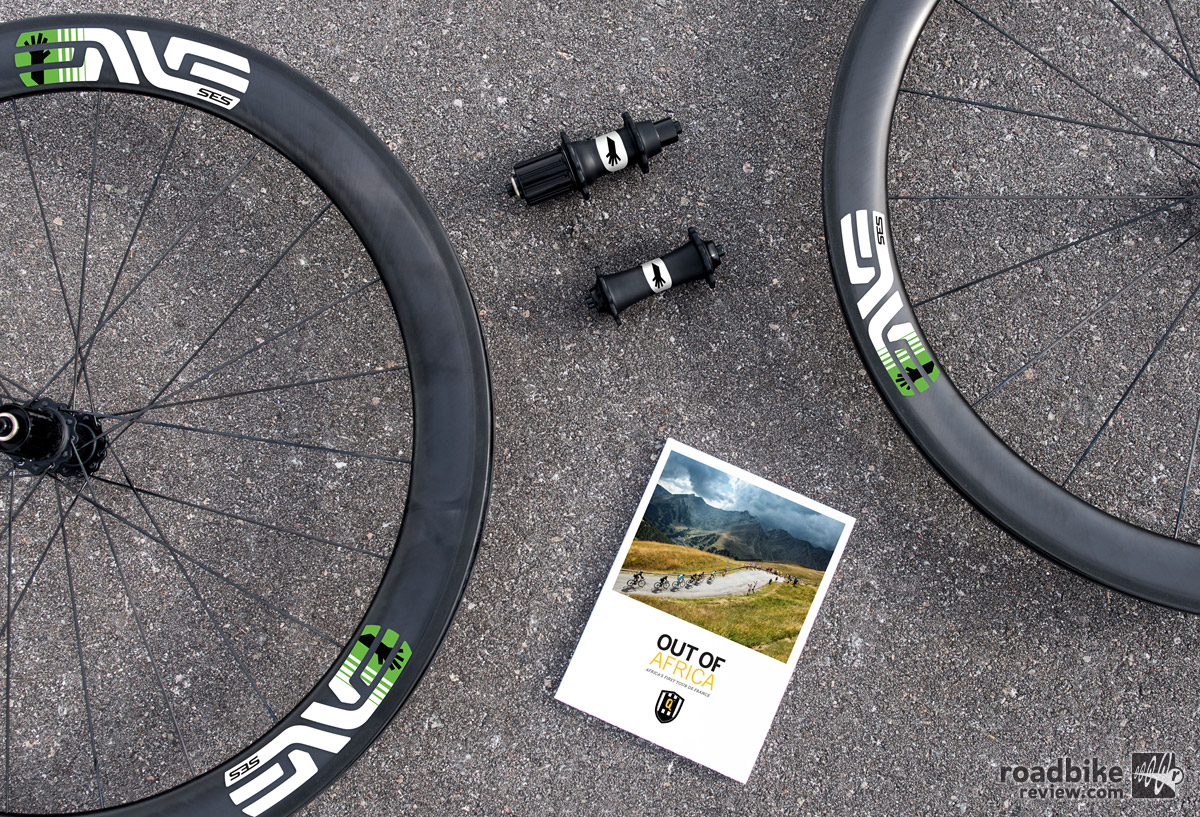 ENVE's January special edition wheelset featured the SES 4.5 Clincher with a custom painted ENVE carbon hub that highlights ENVE's partnership with WorldTour team Dimension Data.
