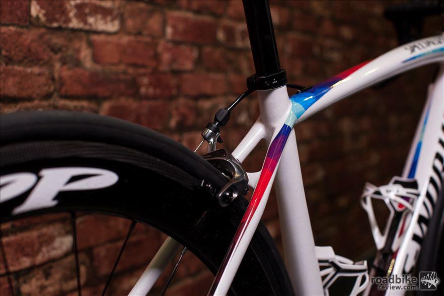 Subtle elegance defines this bike's custom paint job.