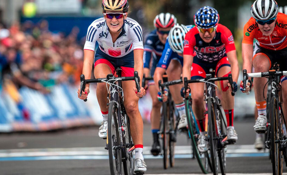 Lizzie Armitstead captures the world road cycling championship in Richmond, Virginia. Photo courtesy Specialized