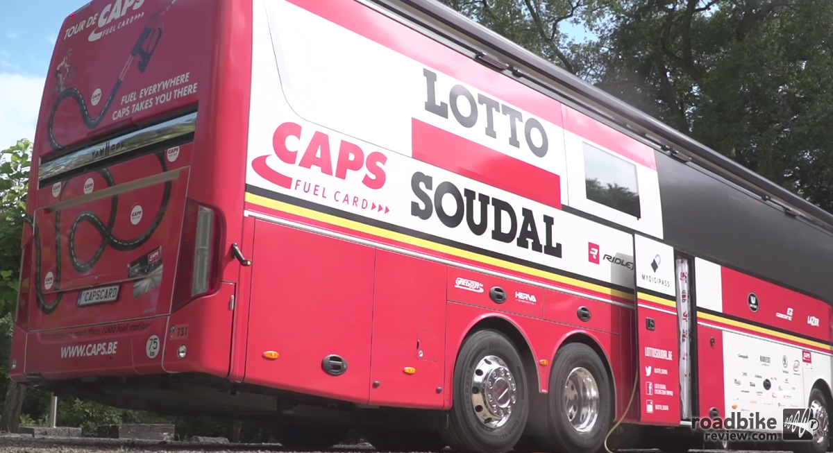 Lotto Soudal Cycling Team Bus Tour