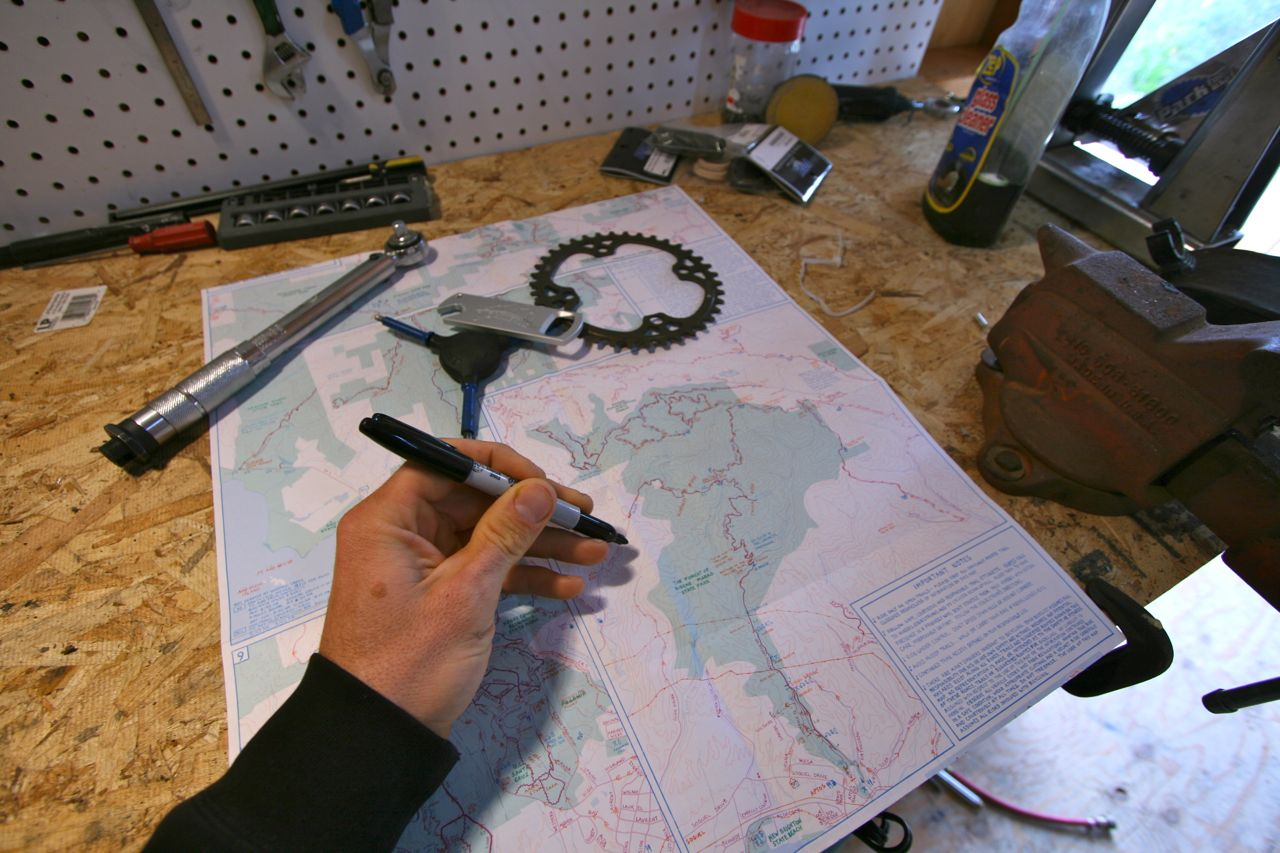 Planning routes with a map