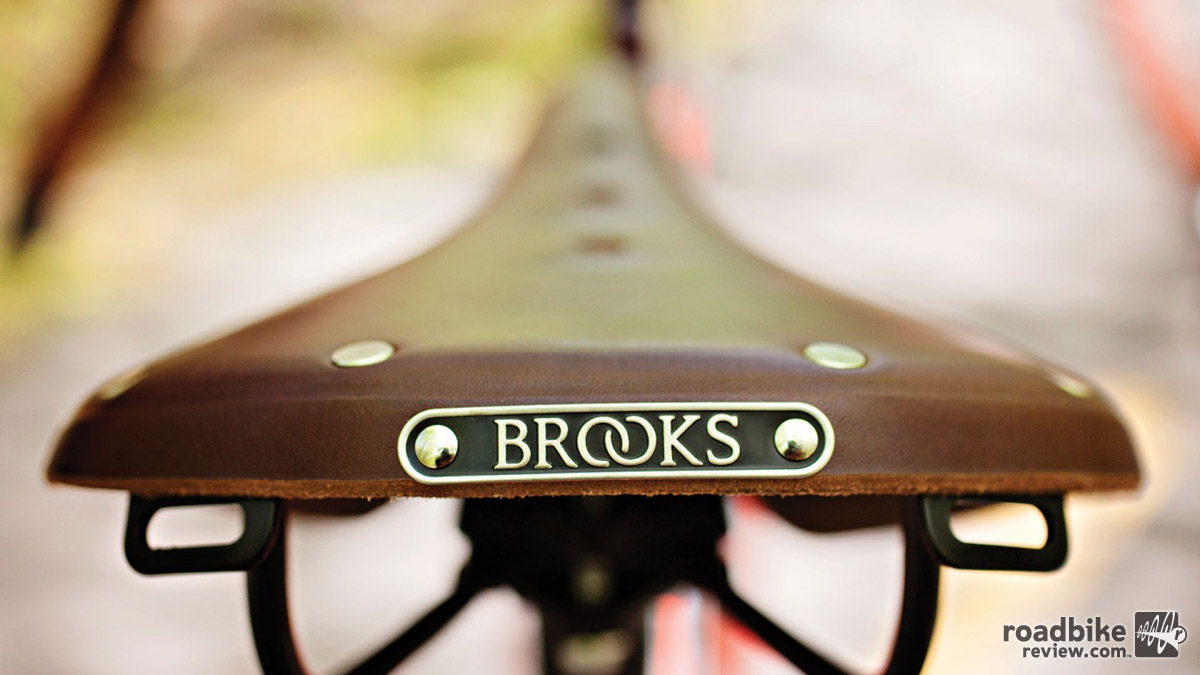 A Brooks B17 saddle is standard fare for the Marrakesh.