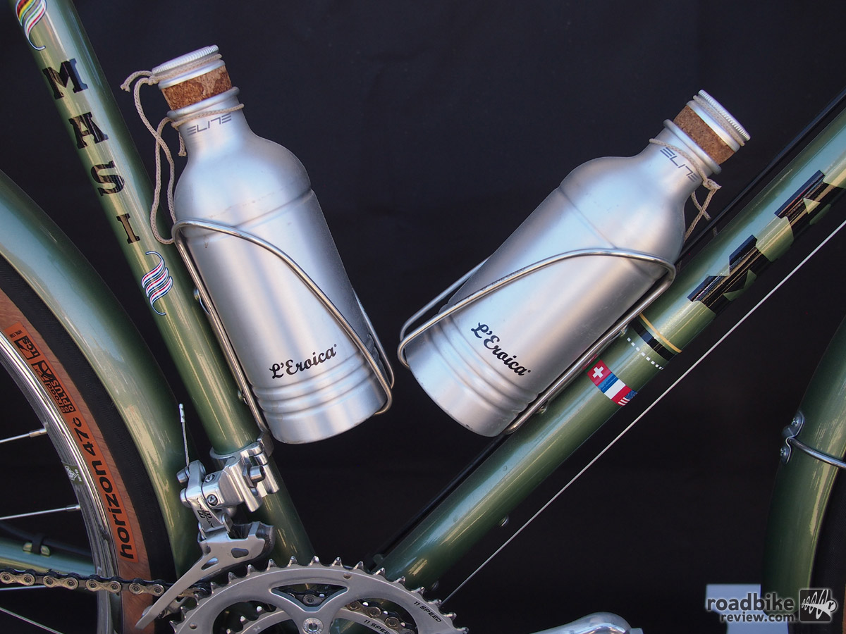 L'Eroica is a vintage themed event that originated in Tuscany but now has several versions around the world. Water bottles not included.