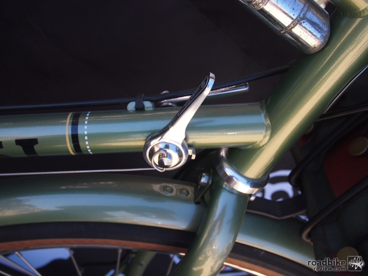 Downtube shifters give this Masi the full vintage effect and just look right.