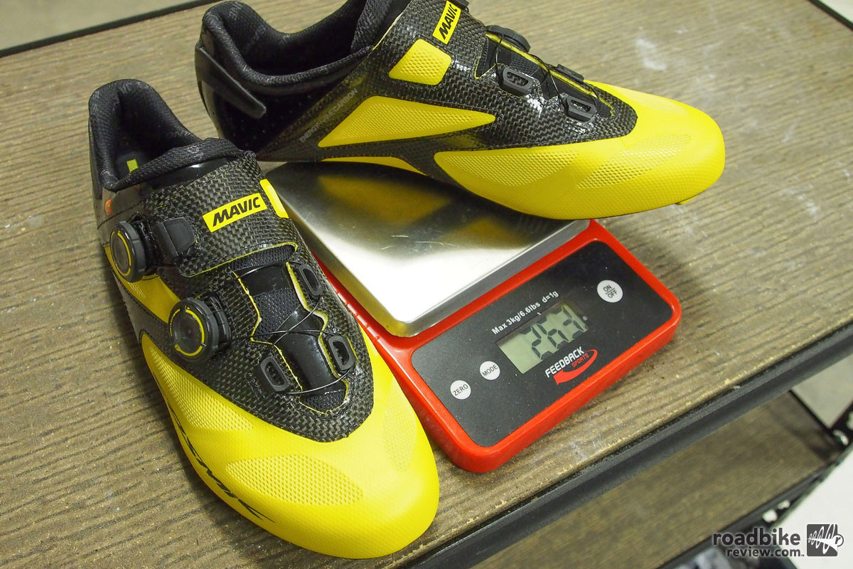 Weight for a size 44 is 263 grams per shoe, which is just 3 grams more than the same size Bontrager XXX road shoe I tested last summer.
