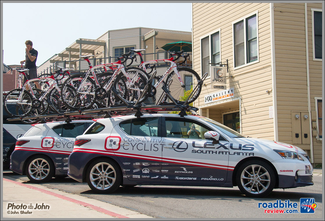 Competitive Cyclist Team Cars