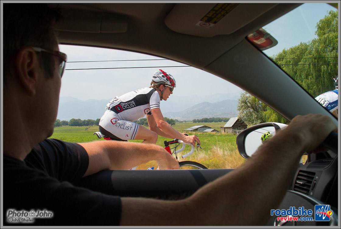 View From The Competitive Cyclist Team Car - Tour of Utah Stage 6