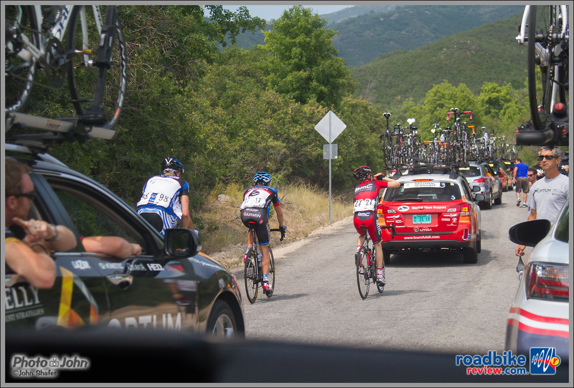 Tour of Utah Stage 6 Caravan Chaos