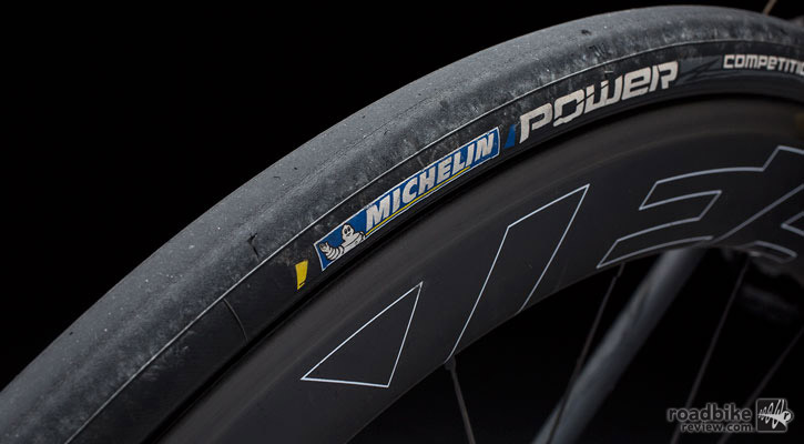 The Power Competition's biggest area for improvement is the casing, which felt a touch on the stiff side for a race tire.