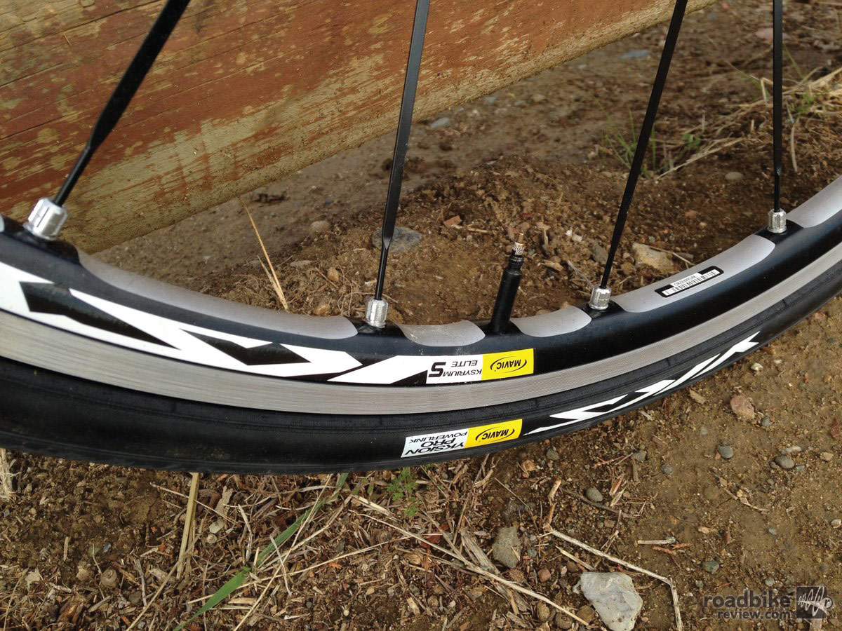 Mavic Ksyrium wheels deliver performance.